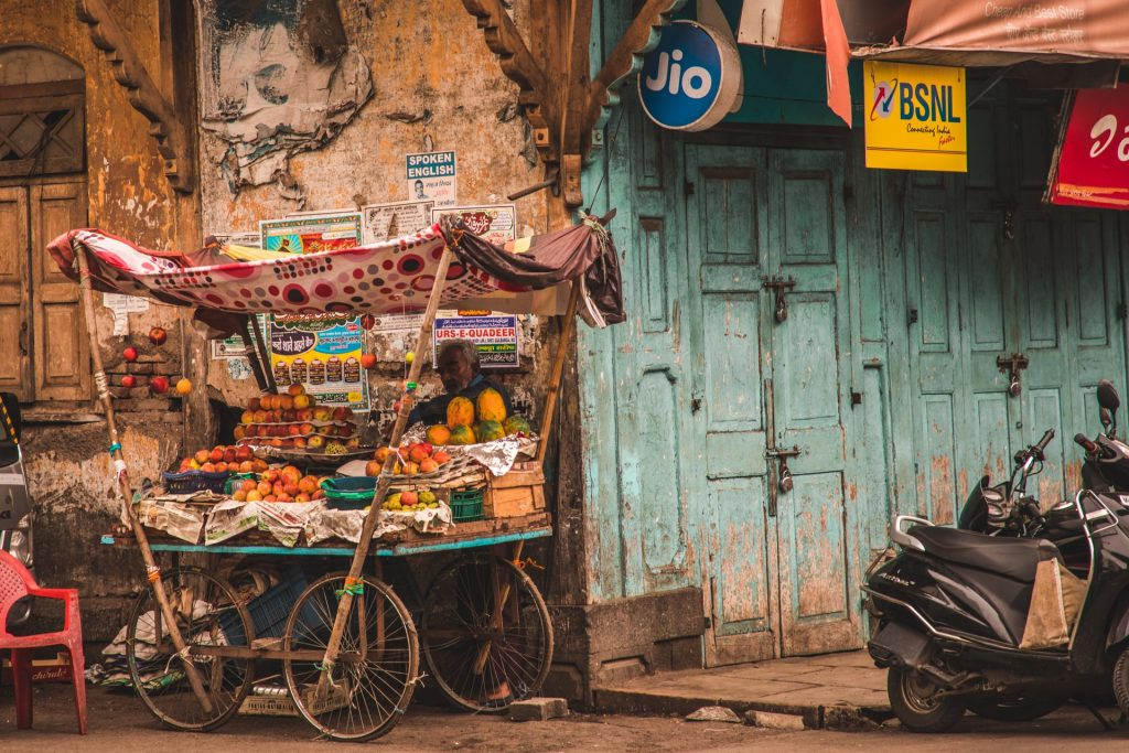 fruit stall India